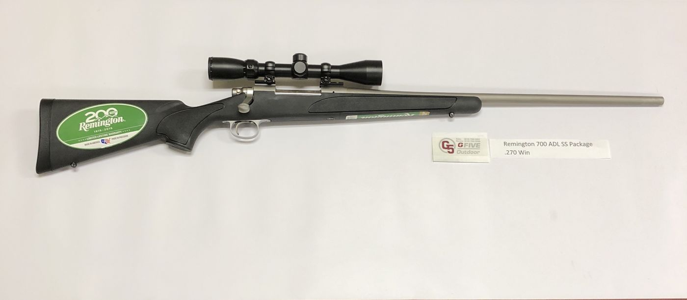 Remington 700 270win Adl Ss Package G5 Feed Amp Outdoor