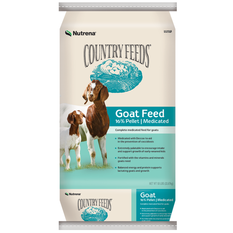 Country Feeds 16% Pelleted Goat Feed - Medicated - G5 Feed